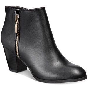 Style & Co. Black Ankle Booties